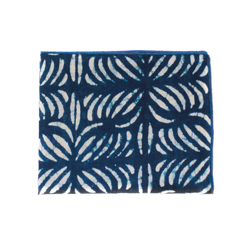Pocket Square in Palm Leaf Indian Cotton