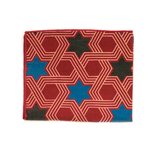 Pocket Square in Disco Star Cotton