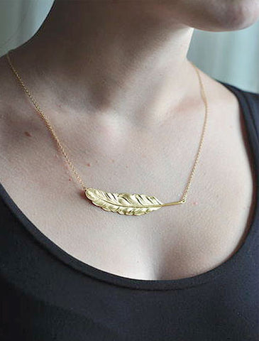 Ketting feather S