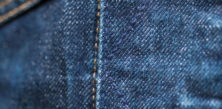 Asphalte Veste en Denim toile Rinse close-up