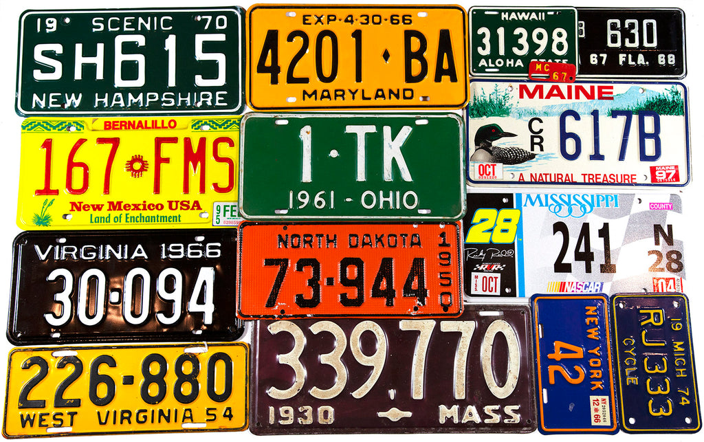 License Plates of fifty states