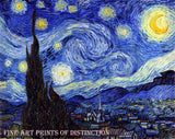 Van Gogh Vincent - Starry Night Fine Art Print