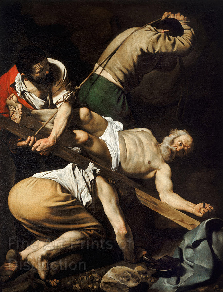 Caravaggio - The Crucifixion of St. Peter Fine Art Print