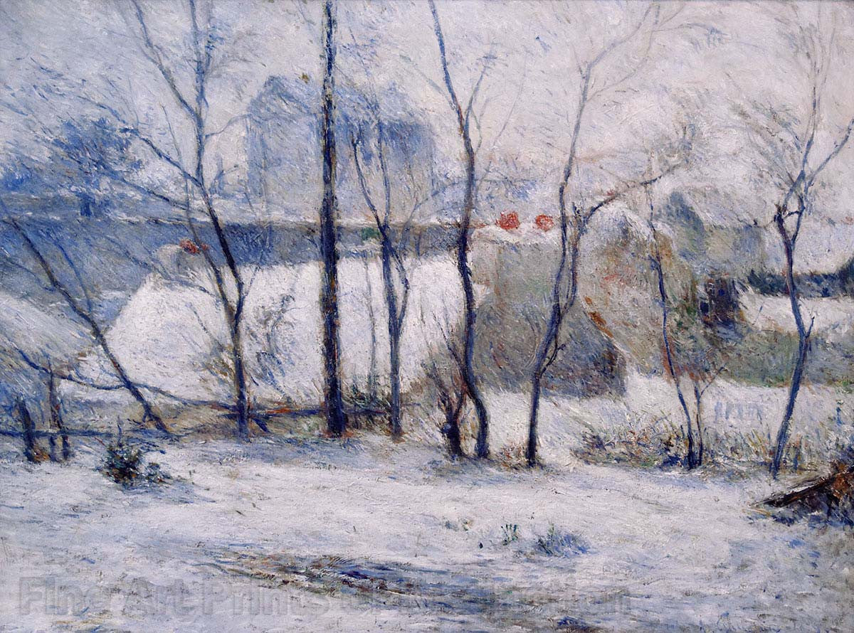 Gauguin Paul - A Winter Landscape Fine Art Print