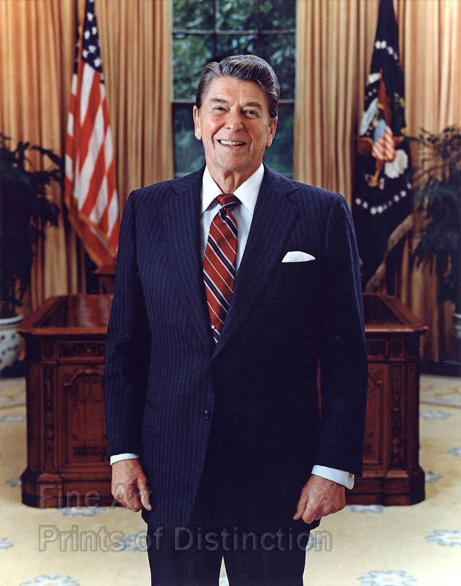 1985 Ronald Reagan Official Presidential Portrait