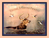 Orange Sporting Powder Advertising Print