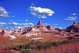 Badlands National Park A Castle Like Formation in South Dakota