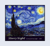 Starry Night painted by Vincent Van Gogh Premium Poster