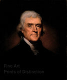 1800 Portrait of Thomas Jefferson by Rembrandt Peale