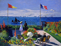 Monet Claude - Garden at Sainte Adresse Fine Art Print