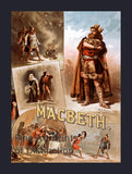 Theater Poster for Macbeth by William Shakespeare
