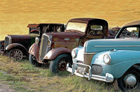 Antique Automobiles Two Fords And A Chevrolet Art Print