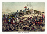 Battle of Nashville Civil War Print
