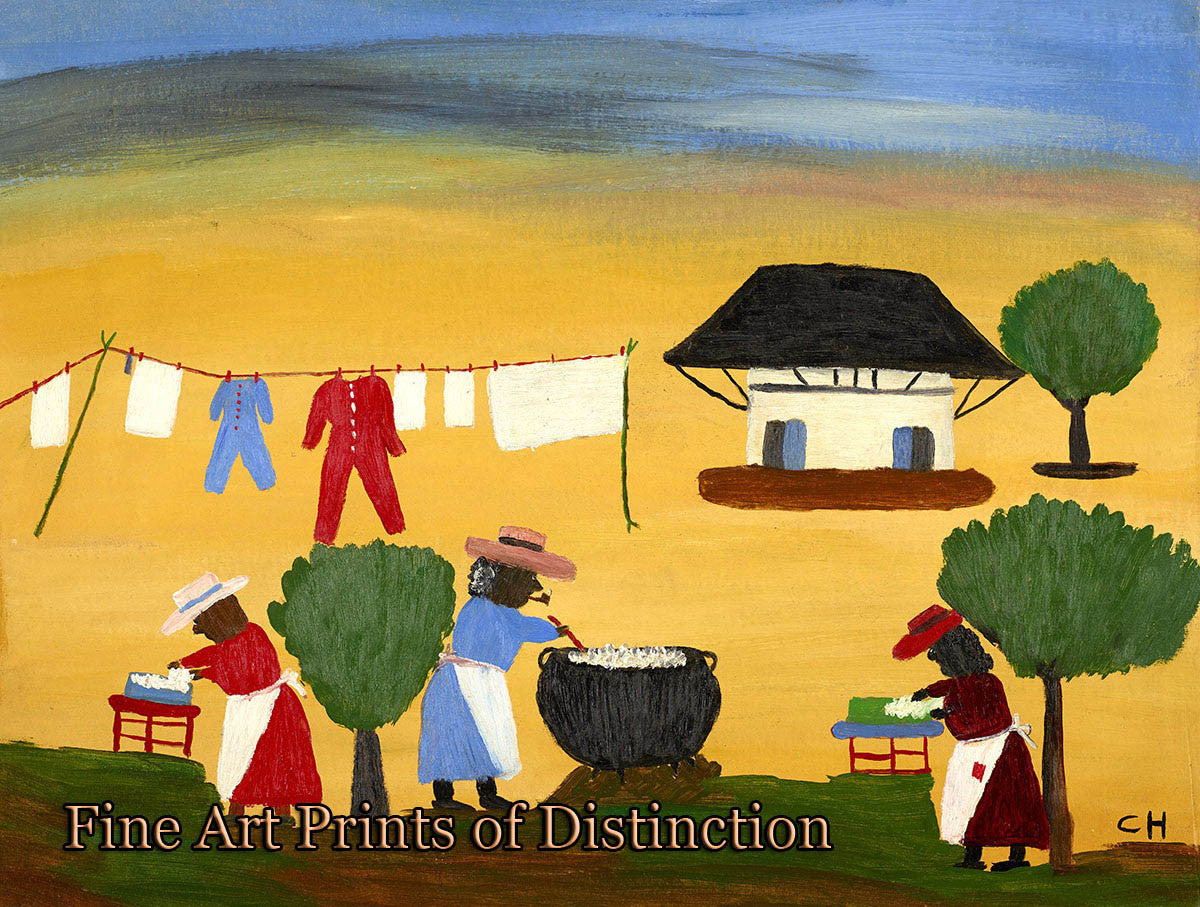 Hunter, Clementine - The Wash Naive Art Print