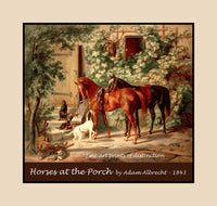 Horses at the Porch by Adam Albrecht premium poster