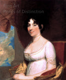 1804 Portrait of Dolley Madison by Gilbert Stuart