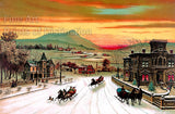 Winter in the Country with Horse and Sleighs