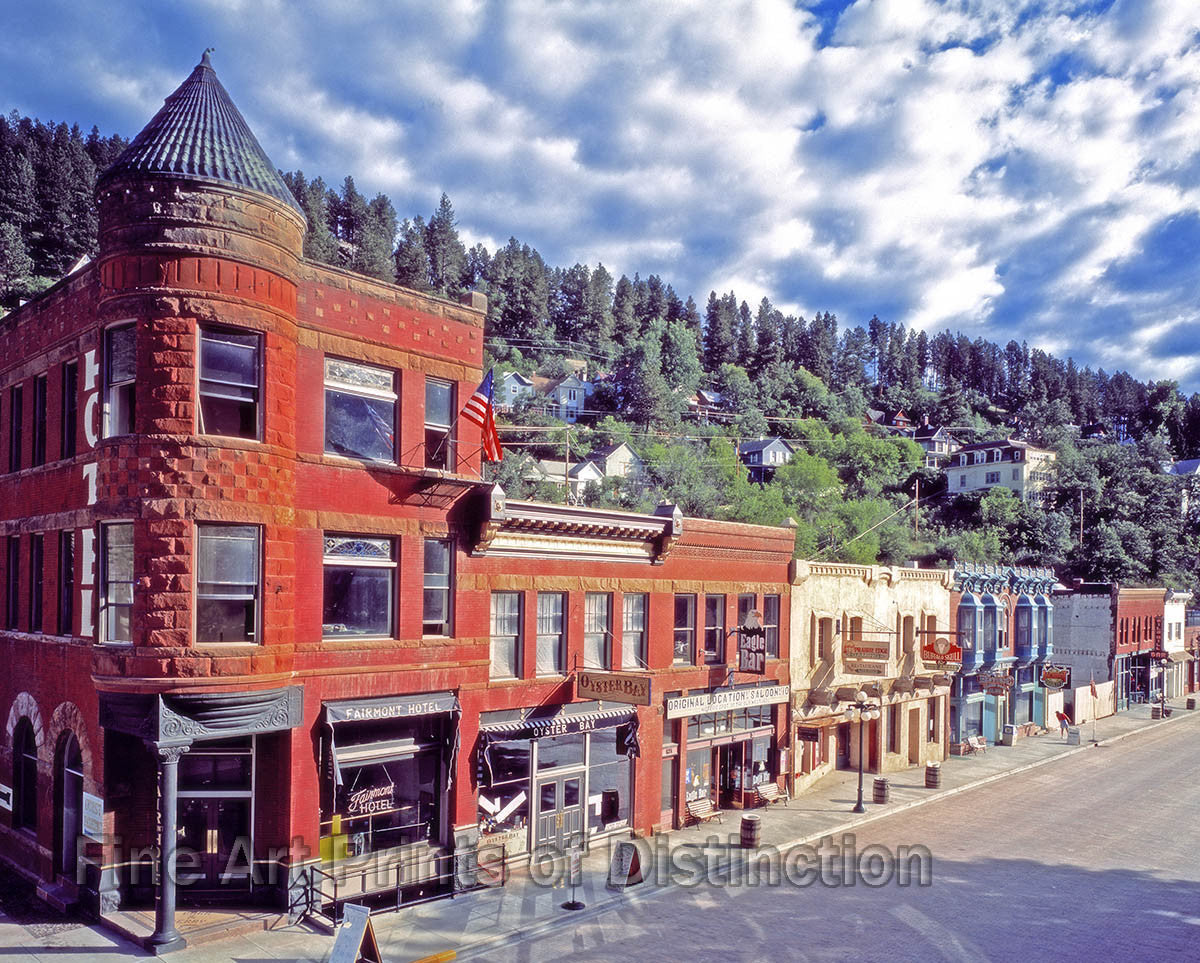 deadwood south dakota downtown fine art print brandywine general store