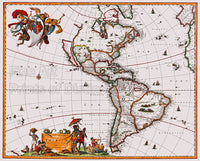 1658 Visscher Map of North and South America