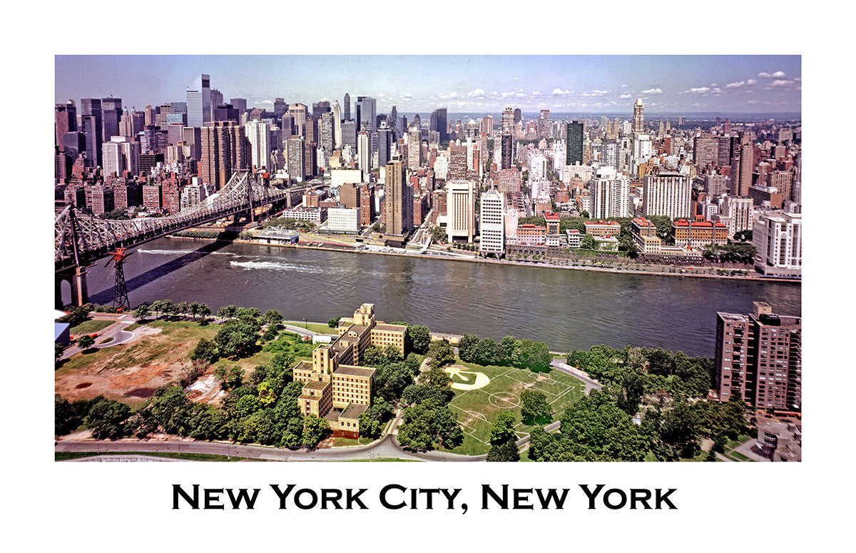 New York City Skyline an Aerial Shot Art Print