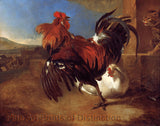 Poultry Yard with Angered Cock by Melchior de Hondecoeter
