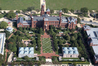Smithsonian Castle an Aerial View in Washington DC Art Print
