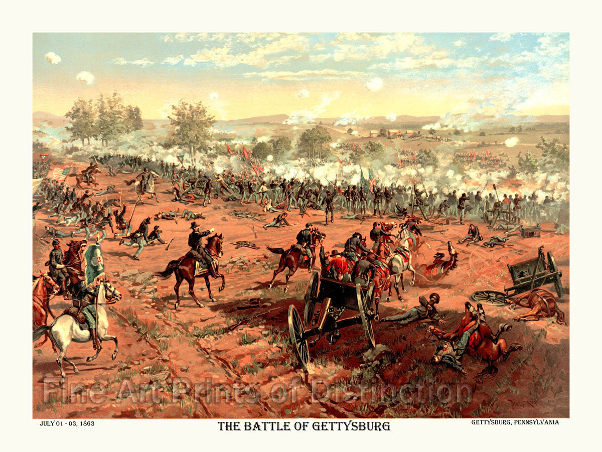 Civil War Battle of Gettysburg by L Prang and Co