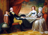 Washington Family Portrait painted by Edward Savage in 1798 at Mount Vernon