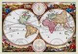1730 Stoopendal World Map drawn by Daniel Stoopendaal Art Print
