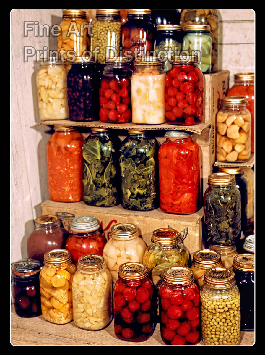 Home Canning Variety Fruits & Vegetables Fine Art Print