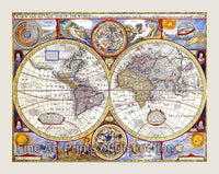 1626 New and Accurate Map of the World by John Speed