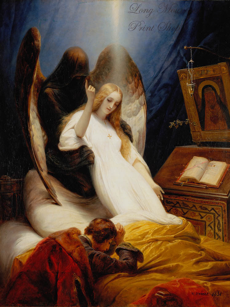 Vernet Horace - The Angel of Death Fine Art Religious Print