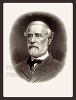 1870 Portrait of General Robert E. Lee with border