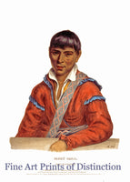 Paddy Carr a Creek Interpreter Native American Portrait Art Print