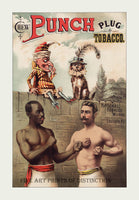 Punch Plug Tobacco Advertisement art print