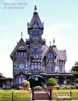 The Carson Mansion in Eureka California Art Print