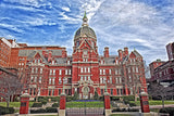 Original Brick Hospital of Johns Hopkins University Art Print