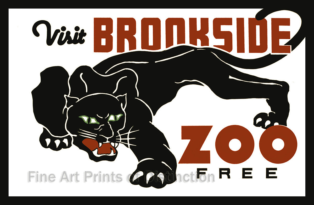 Visit Brookside Zoo with Panther Advertisement