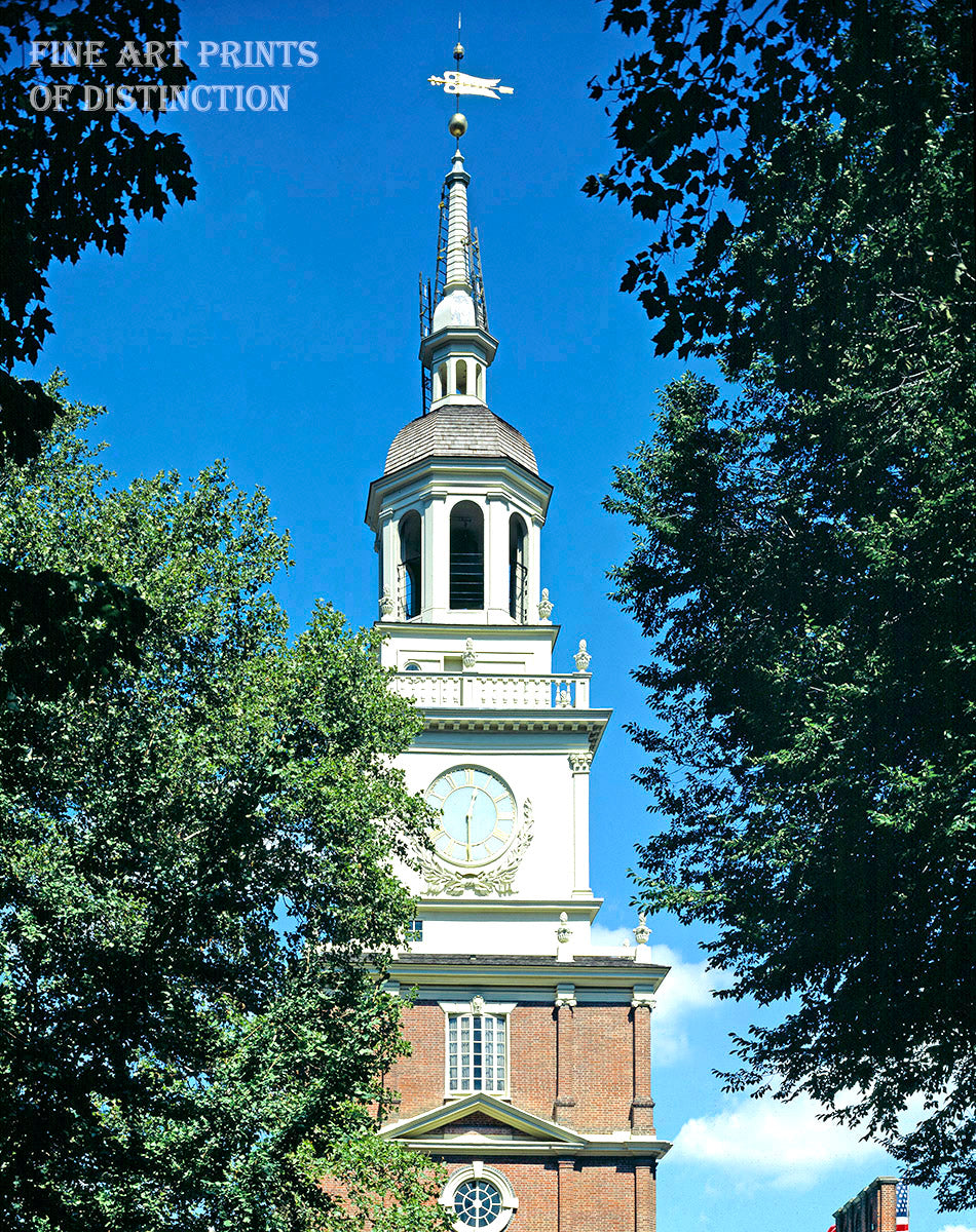 Steeple of Independence Hall in Philadelphia Pennsylvania Art Print