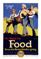 World War I Poster Food Keep the Home Garden Going