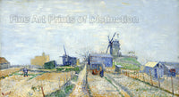 Montmartre Windmills and Vegetable Gardens by Vincent Van Gogh Art Print