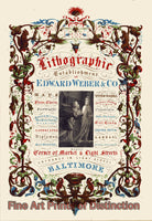 Edward Weber Lithographers Advertisement