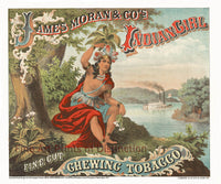 James Moran Indian Girl Chewing Tobacco Advertisement