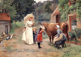 Visit to a Farm by Emile Charles Dameron