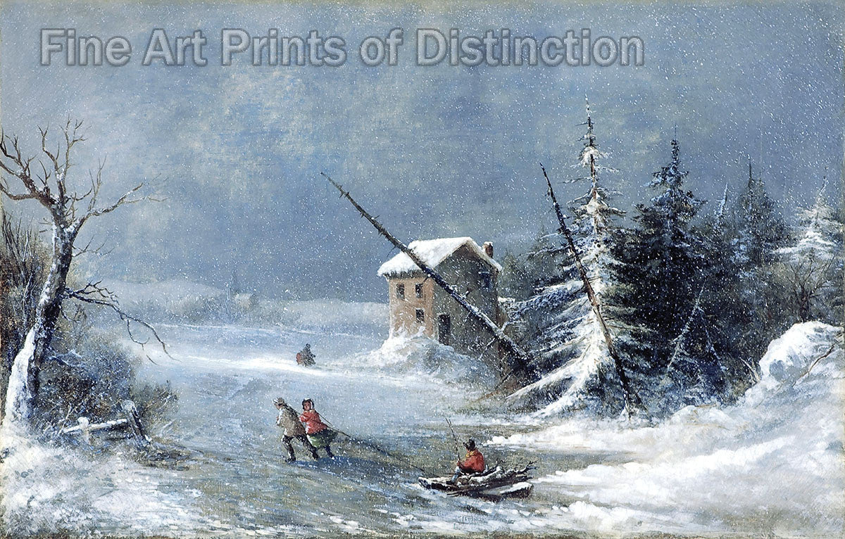 The Blizzard by Cornelius Krieghoff