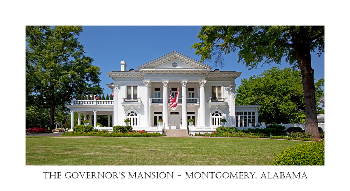 The Governor's Mansion at Montgomery Alabama in poster style
