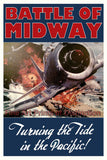 WWII Poster Battle of Midway Turning the Tide in the Pacific