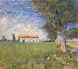 Farm House in a Wheat Field by Vincent Van Gogh Art Print