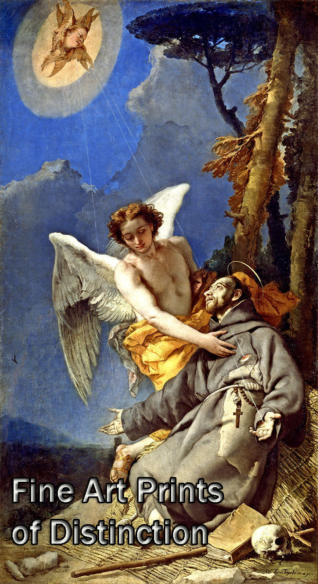 The Stigmatization of St. Francis painted by Giambattista Tiepolo Art Print