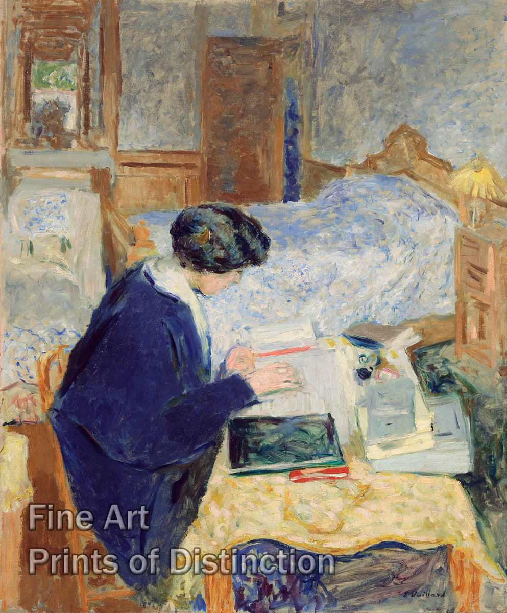 Lucy Hessel Reading by Edouard Vuillard